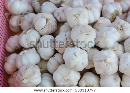 Garlic in the market,THAILAND