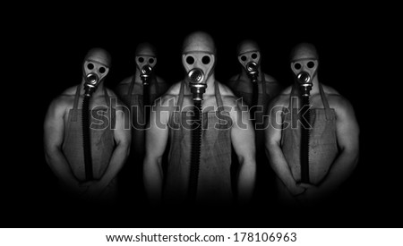 Gas mask characters