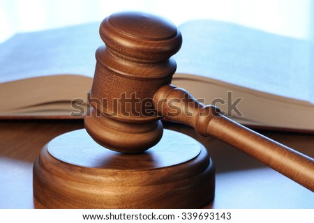 Gavel with book