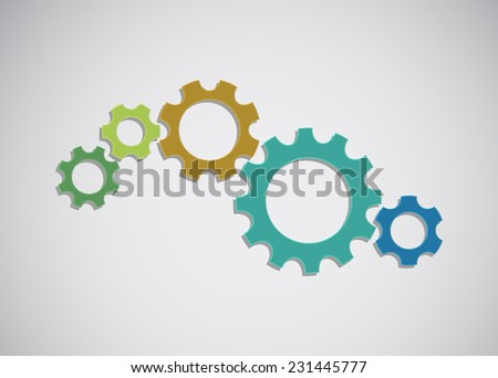 gears colored design background
