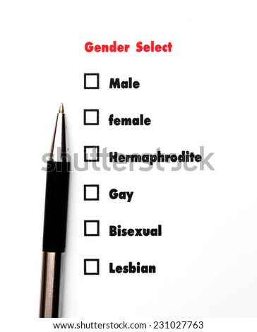 gender select choice, sex concept
