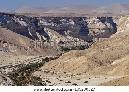 General view of the Ein Avdat Canyon - Israel