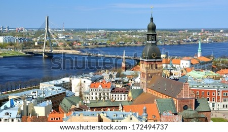 general view on Riga, Latvia
