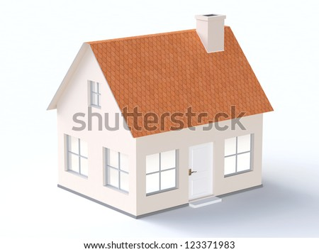 Generic house model with sloping roof