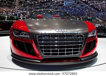 GENEVA - MARCH 8: A Audi TT Quattro on display at the 81st International Motor Show Palexpo-Geneva on March 8, 2011  in Geneva, Switzerland.