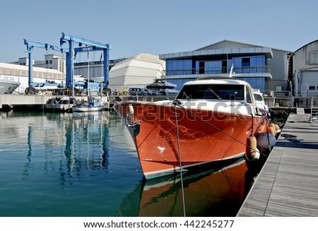 Old Fishing Boat Port Fishing Toolsmediterranean Stock