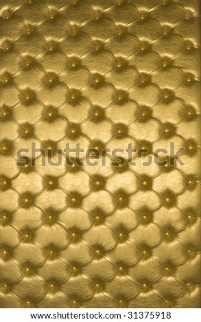 Genuine leather upholstery. Golden skin texture.