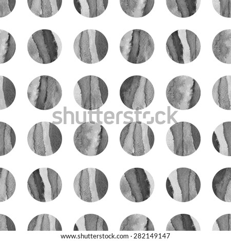 Geometric seamless patterns dots. Monochrome watercolor texture. Grey, black and white. Web and mobile interface, website template