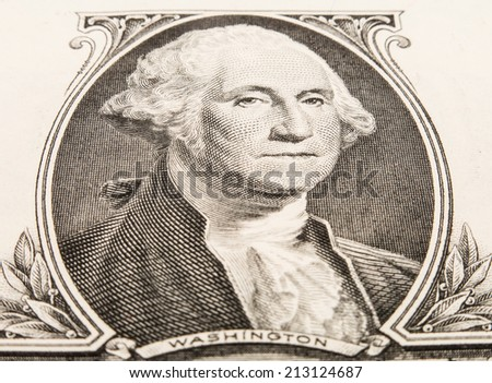 George Washington on the one dollar note