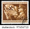 GERMAN REICH - CIRCA 1944: A stamp printed in Germany shows image of Adolf Hitler, circa, 1944 - stock photo
