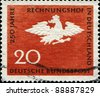 GERMANY - CIRCA 1964: A stamp printed in German Federal Republic honoring 250th Anniversary of German Court of Accounts, shows Prussian Eagle, circa 1964 - stock photo