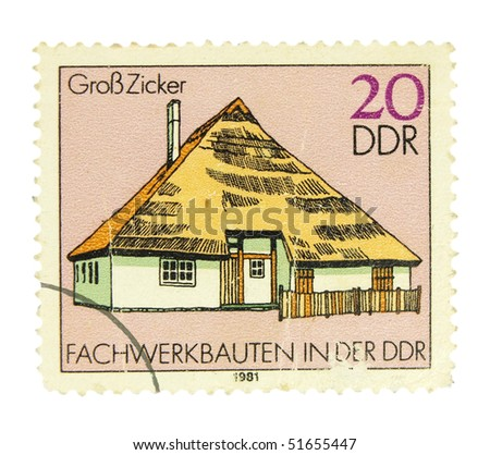 GERMANY - CIRCA 1981: A stamp printed in Germany showing historical house circa 1981