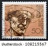 GERMANY - CIRCA 1978: A stamp printed in Germany shows Nobel Prize winner for literature Hermann Hesse, circa 1978 - stock photo
