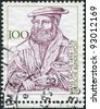 GERMANY - CIRCA 1994: A stamp printed in the Germany, dedicated to the 500th anniversary of the birth Hans Sachs, circa 1994 - stock photo