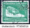 GERMANY - CIRCA 1936: A stamp printed in the Germany shows Airship Gondola, circa 1936 - stock photo