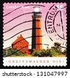 GERMANY - CIRCA 2004: a stamp printed in the Germany shows Griefswalder Oie, Lighthouse, circa 2004 - stock photo