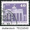 GERMANY - CIRCA 1973: stamp printed by Germany, shows Brandenburg Gate, circa 1973 - stock photo