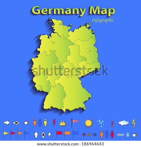 Related pictures map of germany