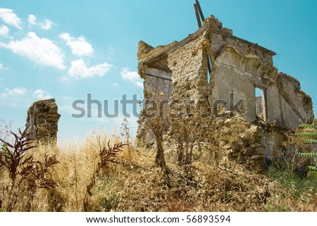 ghost town ruin