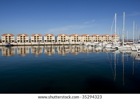 Gibraltar Queensway Quay Marina Luxury Homes with sailing yachts