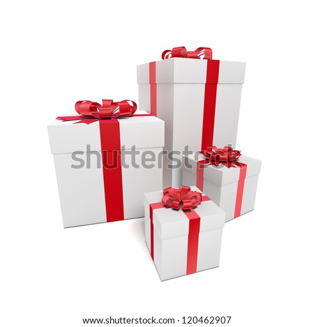 Gift box with ribbon.