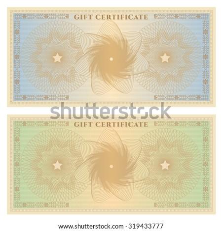 Voucher Gift Certificate Coupon Ticket Template Illustration – Ticket Voucher Template