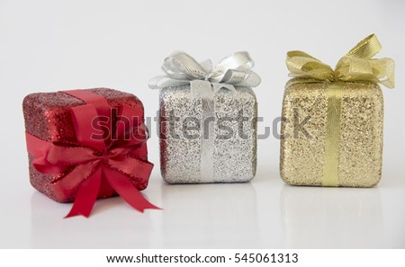 Gift foam on white background