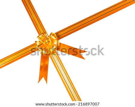 gift ribbon decoration isolated on white background