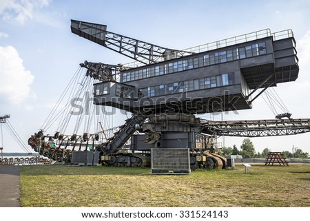 Gigantic excavators in disused coal mine Ferropolis, East Germany