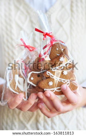 Gingerbread cookie for present