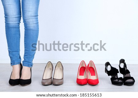 Family Legs Feet Standing Together Woman Stock Photo