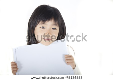 Girl having a message board