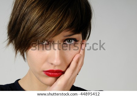 girl having toothache