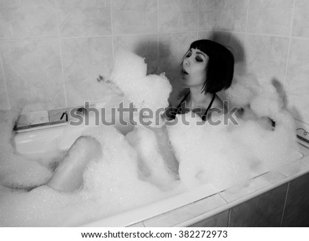 Girl in the bath
