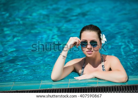Pregnant Lady Pool Stock Photo 594103070 Shutterstock