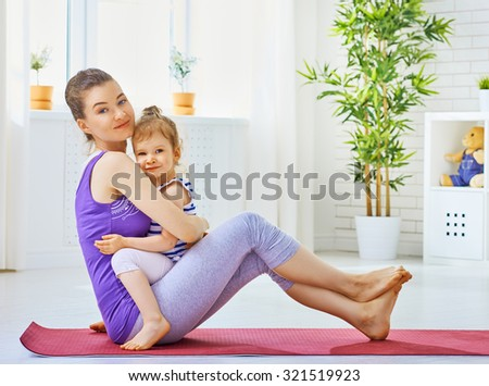 girl is engaged in sports with child