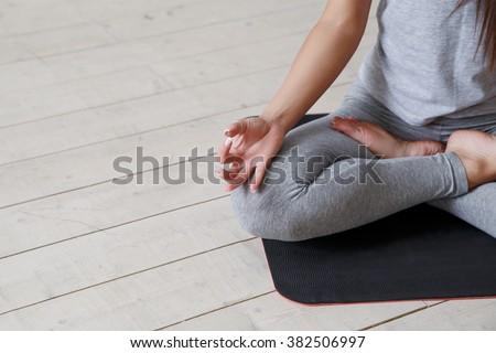 yoga close men hands young men stock photo 531300463