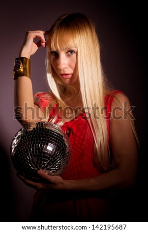 girl with the disko ball
