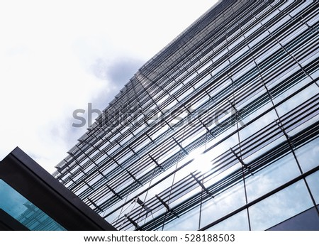 Glass building with sky