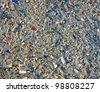 glass debris (garbage) heap, environment pollution details. stress concept - stock photo