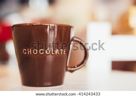 Glass of chocolate