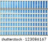 Glass windows of office building - stock photo