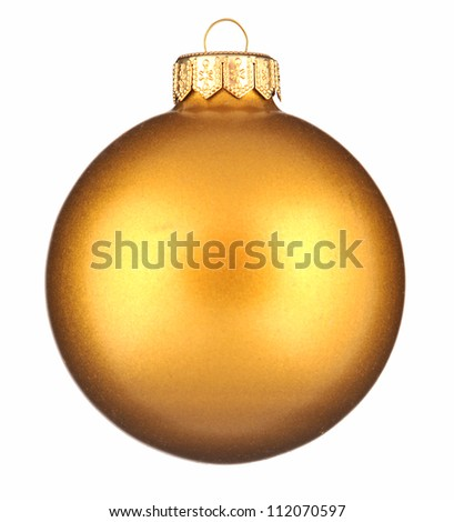 Glitter christmas ball isolated on white background