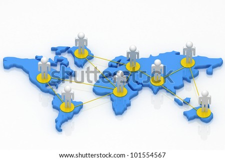 Global business network concept