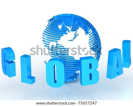 Global illustration with globe.