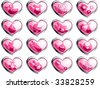Glossy baby buttons for a girl (JPG); a vector version is also available - stock photo