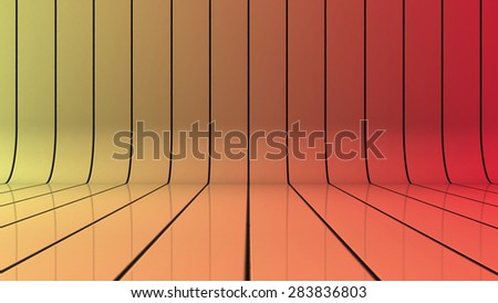Glossy background with lines that curve upward