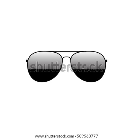 Glossy black aviator sunglasses summer fashion design