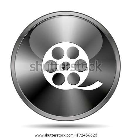 Glossy shiny glass icon on white background