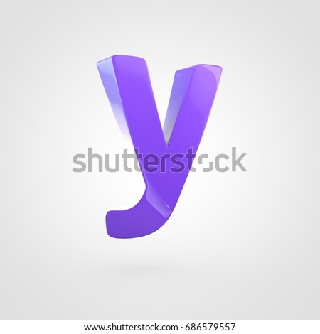 Cosmic letter y lowercase 3d render stock illustration 601893692 glossy violet letter y lowercase 3d render font with glint and light reflection isolated on sciox Image collections